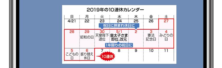 10連休カレンダー